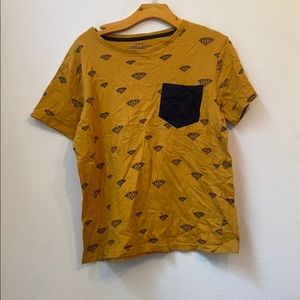 Boys EIGHTY EIGHT Yellow Diamond Graphic Top 18/20